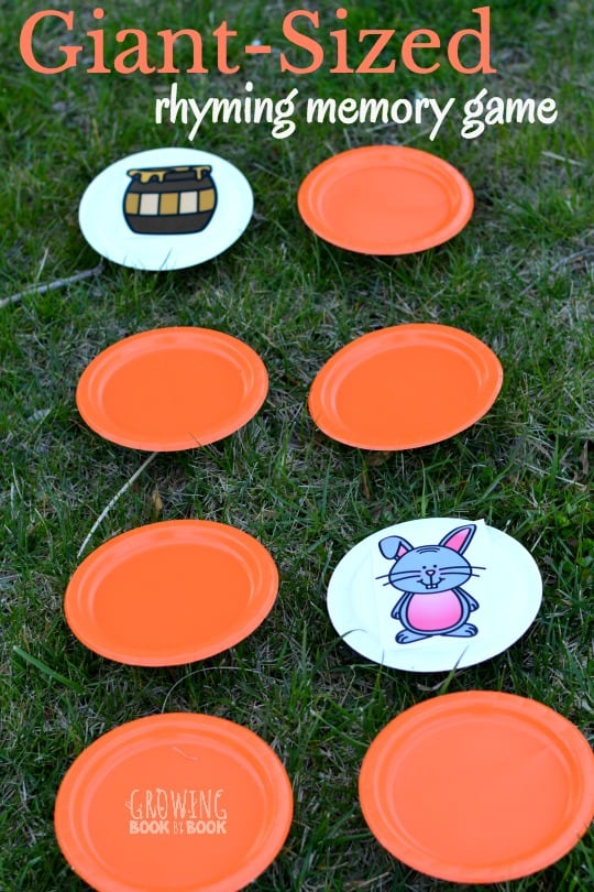 Outdoor Rhyming Memory Game Parkland Players Coquitlam Child Care Center Group Daycare
