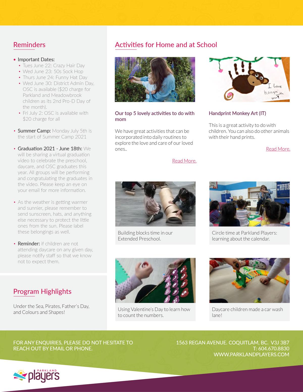 JuneNewsletterPreschool